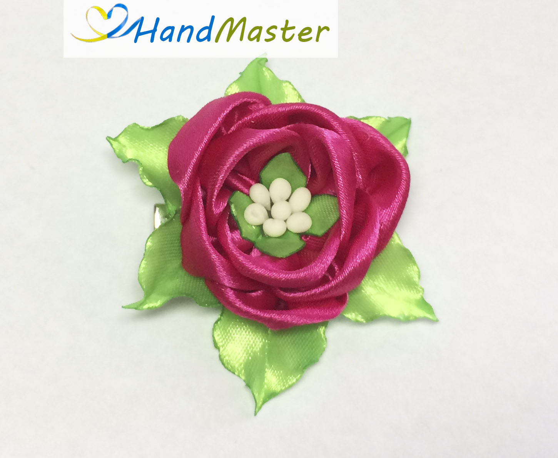 """Резинка для волосся """"Бутон Трояндочки рожевий"""""""