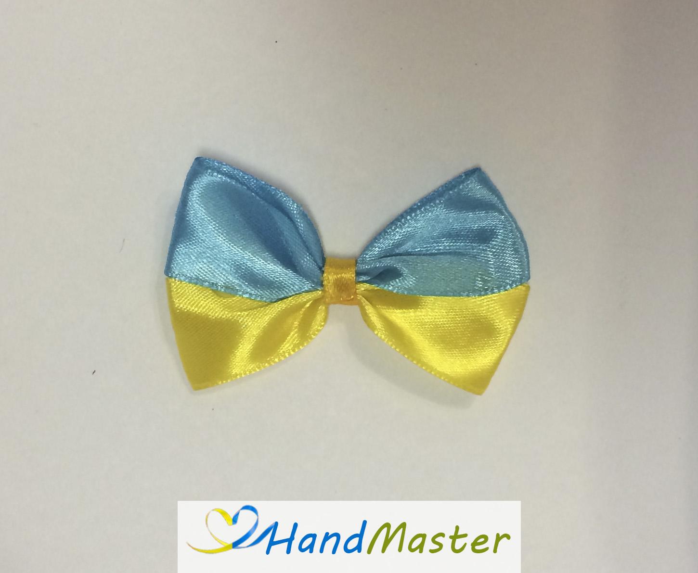 """Резинка для волосся """"Бантик патріотичний жовто-блакитний"""""""