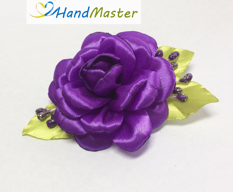 """Заколка для волосся """"Фіолетова Троянда"""""""