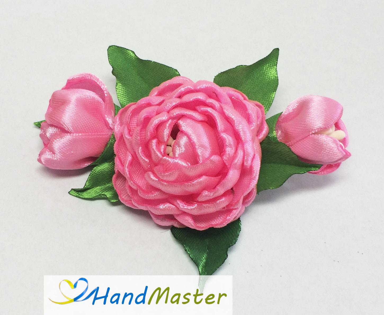 """Заколка для волосся """"Гілочка світло-рожевої Троянди"""""""
