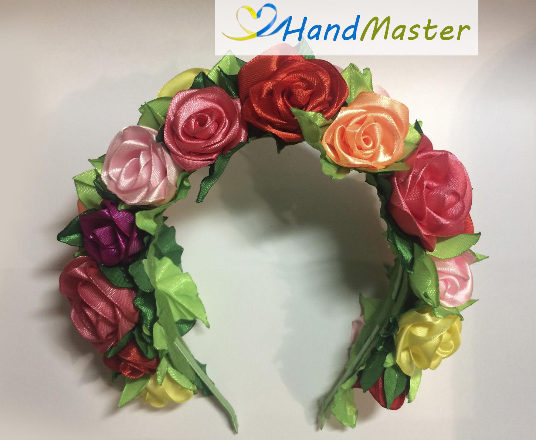 """Обруч """"Разноцветные Розы"""""""