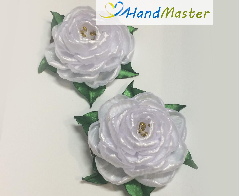 """Заколка """"Біла Троянда"""""""
