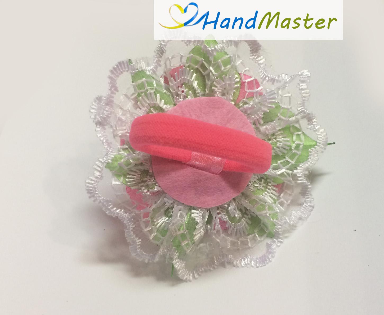 """Резинка для волосся """"Три рожеві Троянди"""""""