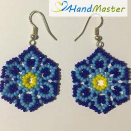 """Сережки """"Блакитна квітка"""""""