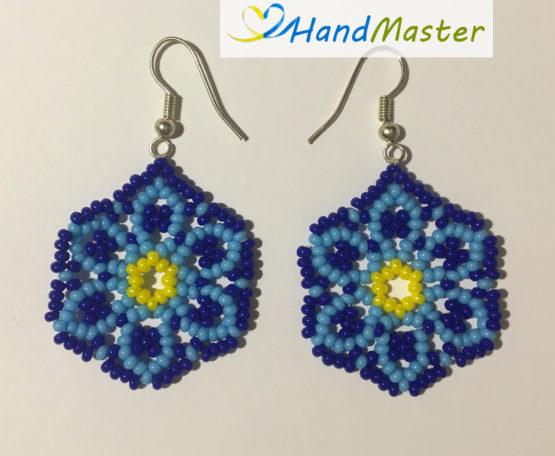 Сережки «Голубой цветок»