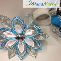 Резинка для волосся новорічна «Блакитна сніжинка» (2шт.)