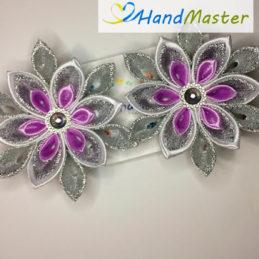 Резинка для волос новогодняя «Фиолетовая снежинка» (2шт.)