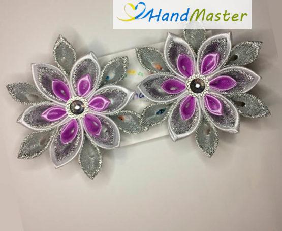 Резинка для волосся новорічна «Фіолетова сніжинка» (2шт.)