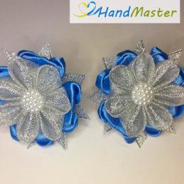Новогодние резинки для волос «Ледяной цветок» (2шт.)